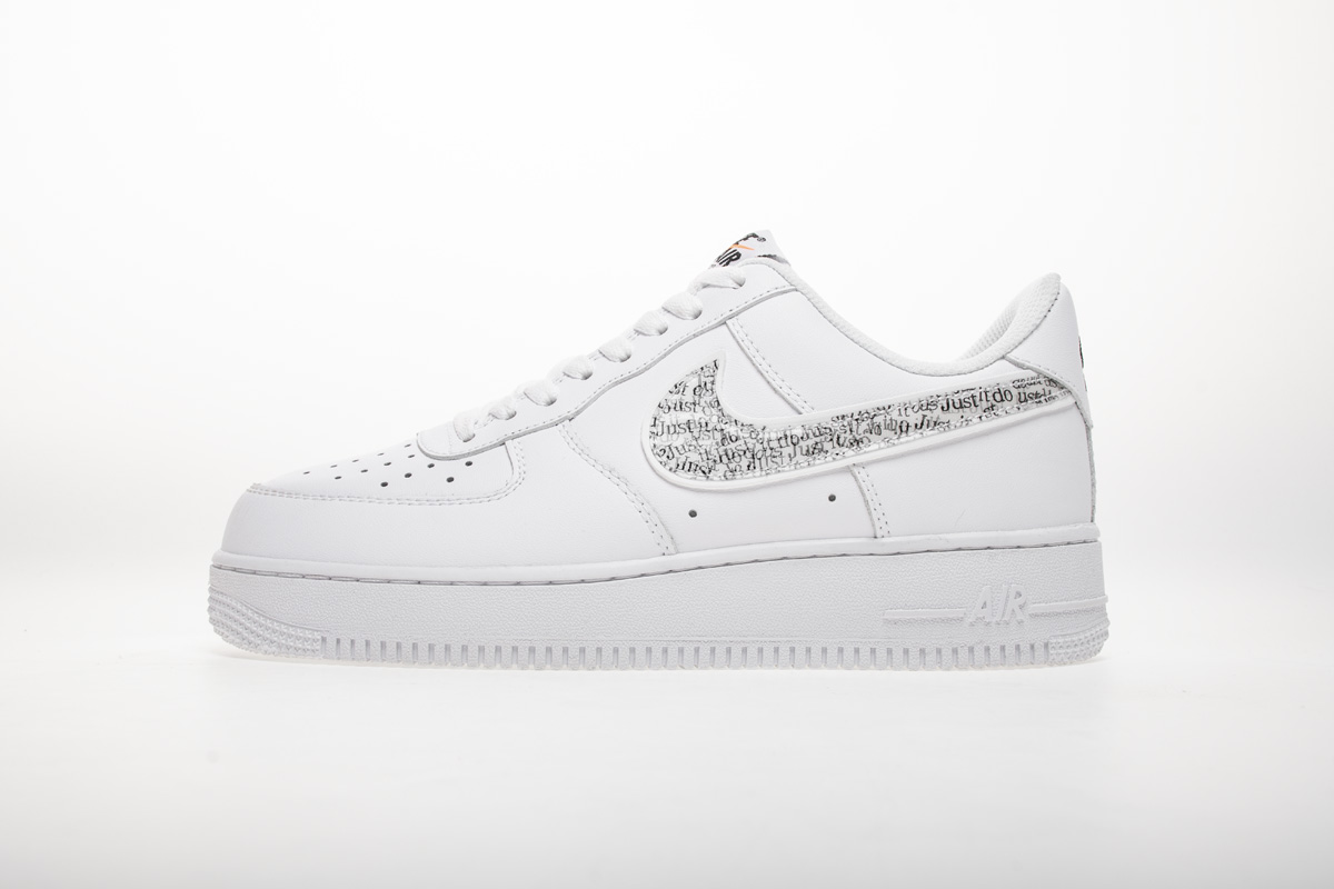 Nike Air Force 1 07 Low Just Do It White Sneakers BQ5361-100 – Ietp