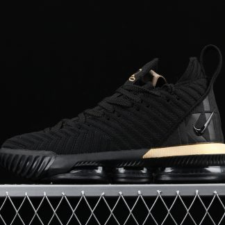 Nike Lebron 16 EP LBJ Black Metallic Gold 1 324x324