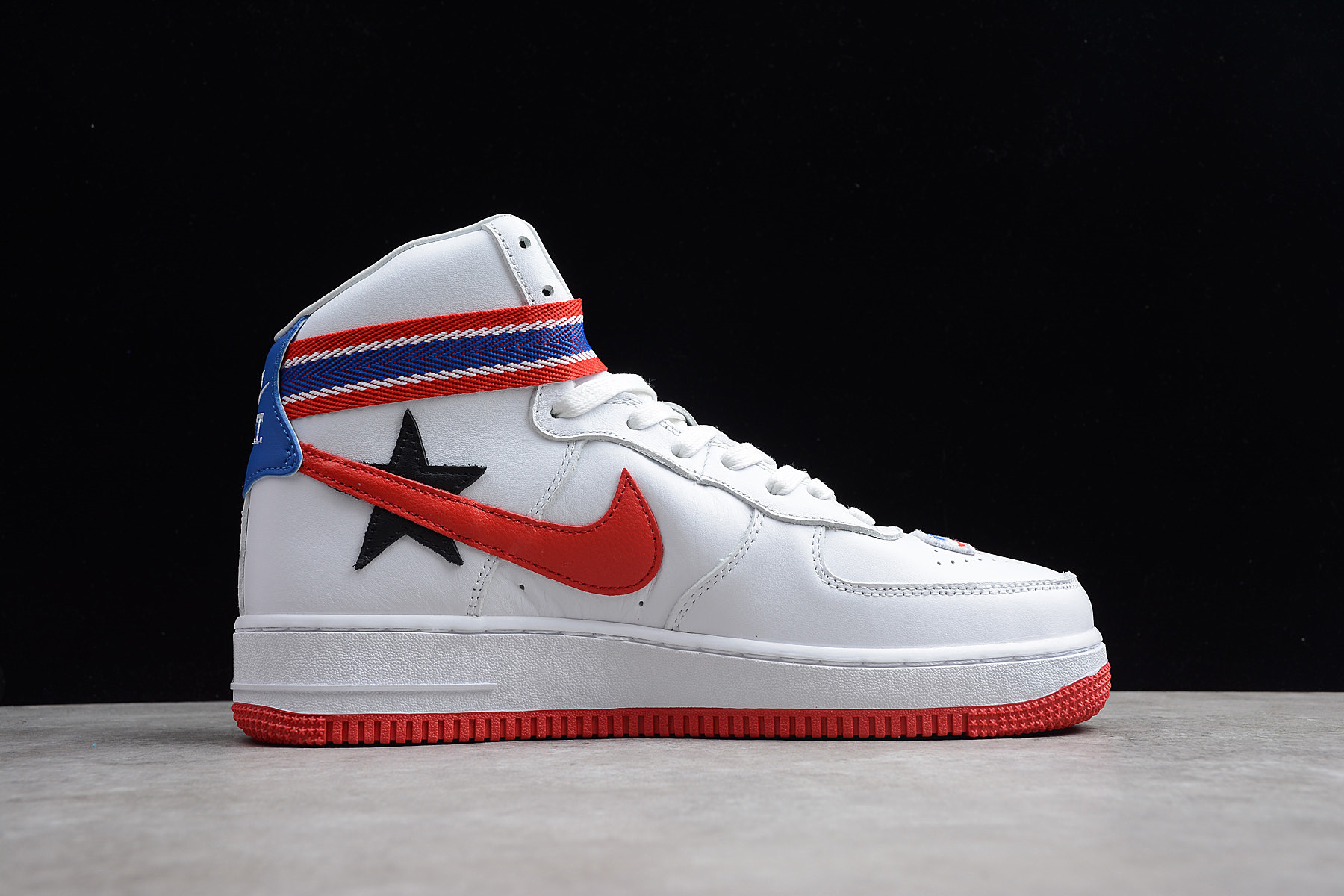 Nike Air Force 1 High White University Red Black Aq3366 100 New