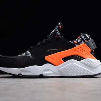 Nike Air Huarache Run Black White Dutch Orange AT5017 001 1 324x324
