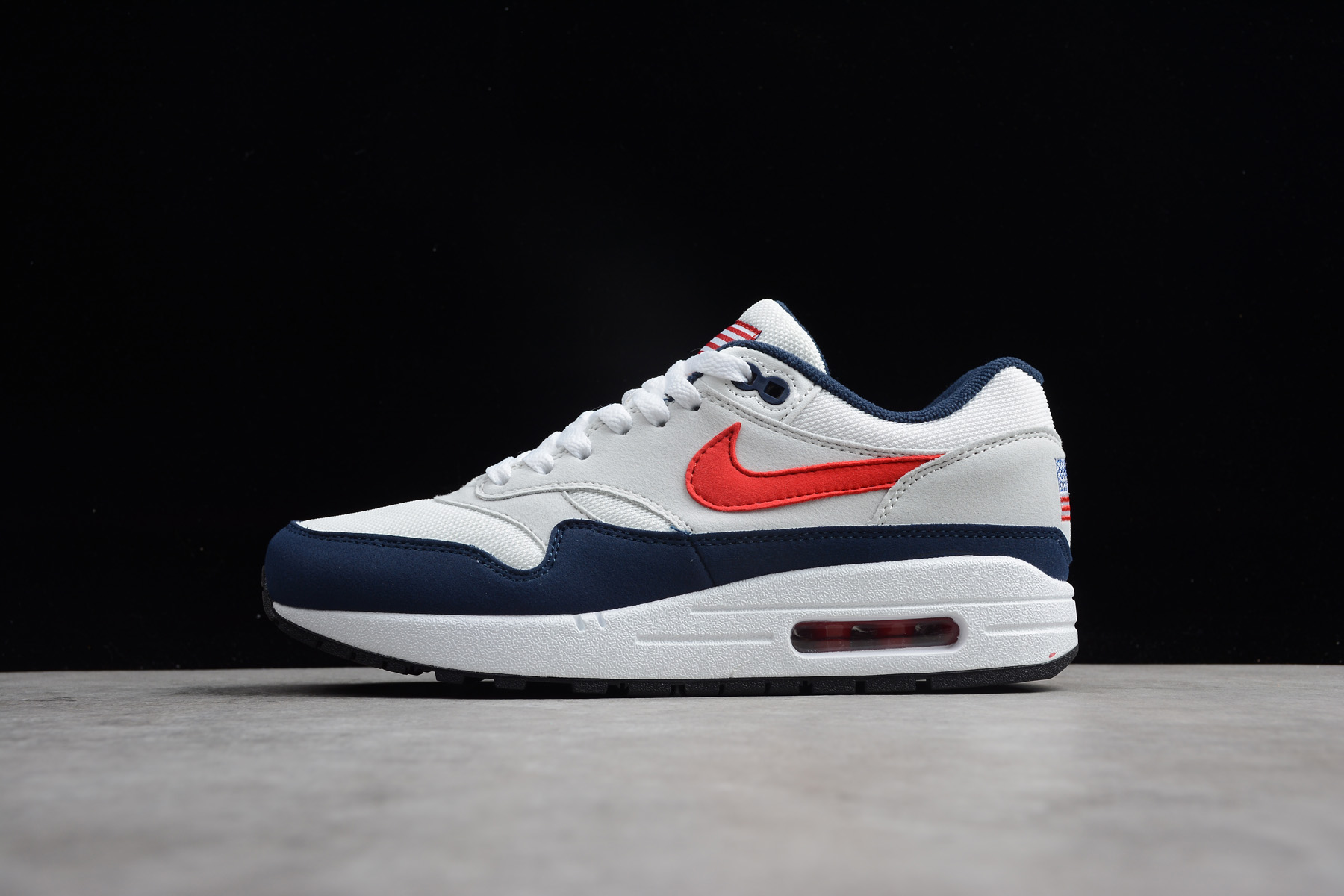 Nike Air Max 1 White Red Navy 604139-162 – Fitforhealth