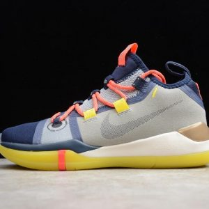 New Nike Kobe AD EP Blue Grey Yellow AV3556 100 1 300x300