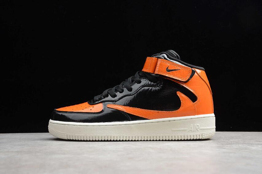 New Nike Air Force 1 Mid 07 x Travis Scott Black Orange ...