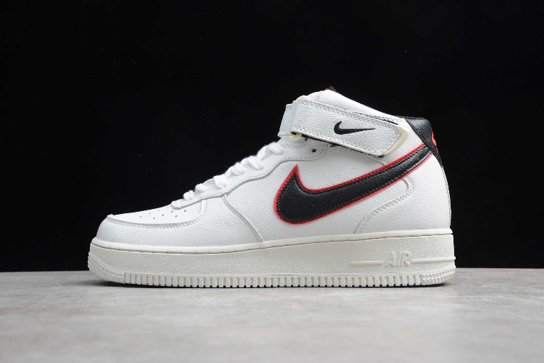 New Nike Air Force 1 Mid 07 HH White Black Red CJ6106-101