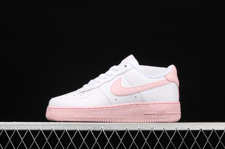 Nike Air Force 1 CV7663-100 White Pink New Release Women Sneakers