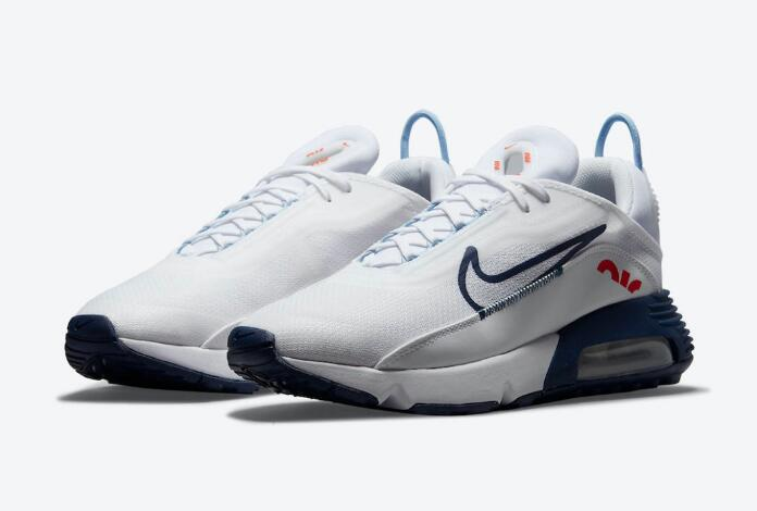 New Nike Air Max 2090 White Release With Navy Details