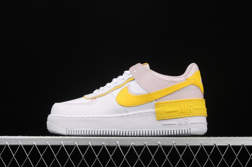 Nike Air Force 1 Shadow White Speed Yellow Barely Rose CJ1641-102 ...