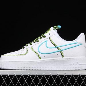 Stylish Nike Air Force 1 07 PRM Worldwide White Blue Fury Black CK7213 100 Gym Sneakers 1 300x300