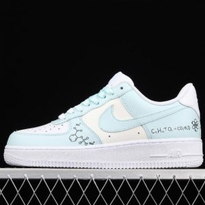 New Style Nike Air Force 1 07 White Beige Light Green CW2288 303 Sport Sneakers 1 300x300