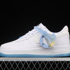 New Style WMNS Nike Air Force 1 07 LX White Blue DA8301 101 Sport Sneakers 1 300x300