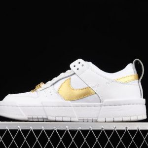 New Stylish Nike WMNS Dunk Low Disrupt White Gold DD9676 100 Sport Sneakers 1 300x300