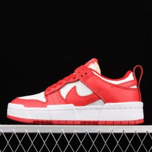 New Stylish Nike WMNS Dunk Low Disrupt White Red CK6654 601 Running Sneakers 1 300x300