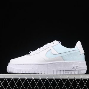 New WMNS Nike Girlss Air Force 1 Pixel White Ice Blue CK6649 113 for Sale 1 300x300