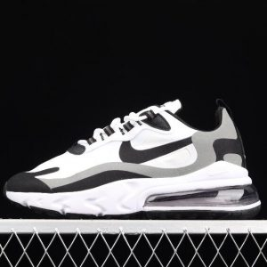 Newest Cheap Nike Air Max 270 React White Black MTLC Pewter CT1264 101 Sneakers 1 300x300