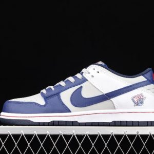 Perfect Running Shoes Nike Dunk Low SE Dark Blue White Grey DD3363 001 for Sale 1 300x300
