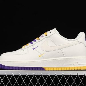 Top Sale Nike Air Force 1 07 SU19 Beige Yellow Purple CT1989 106 Sport Outfits 1 300x300
