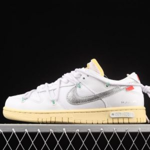 Nike Outlet Dunk Low Lthr Ow DM1602 127 White Silver 300x300