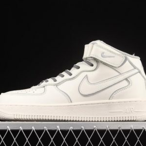 Nike Sneakers Air Force 107 Mid Beige Silver Reflective Light AQ1218 118 300x300